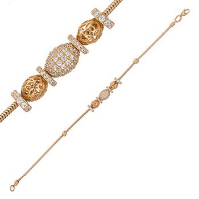 Золотой женские браслет с шармами 4228089101
