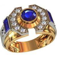 Золотая мужская печатка 701350