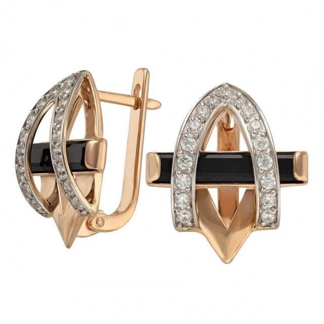 Золотые женские серьги 459205