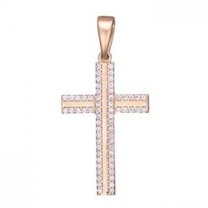 Золотой крестик с цирконием 3105775101