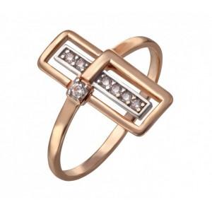 Золотое кольцо с фианитами 380470