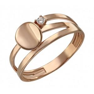 Золотое женское кольцо 380484