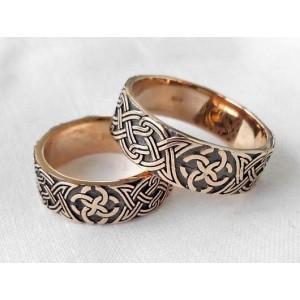 Золотое обручальное кольцо 20136