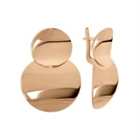 Золотые женские серьги 470578