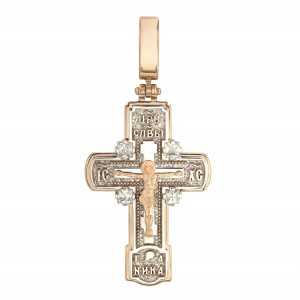 Золотой крест с фианитами 270125
