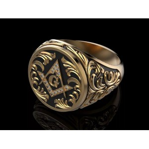 Золотой мужской перстень 909115