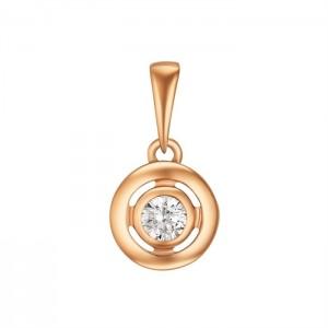 Золотой подвес с цирконием 3191760101