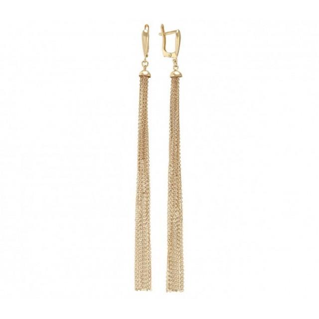 Золотой серьги-подвески 480051
