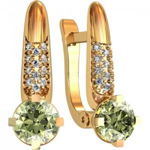 Золотые женские серьги 311210