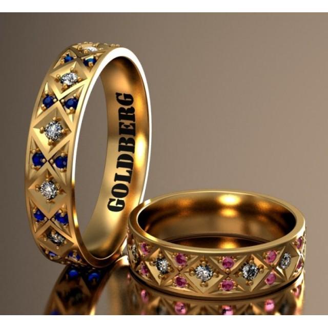 Золотое обручальное кольцо Goldberg 10-91