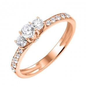 Золотое кольцо женское К115