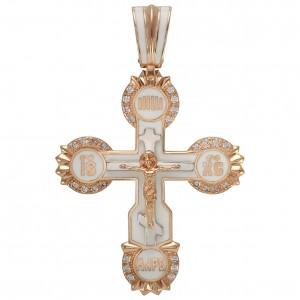 Золотой крест с эмалью 270114