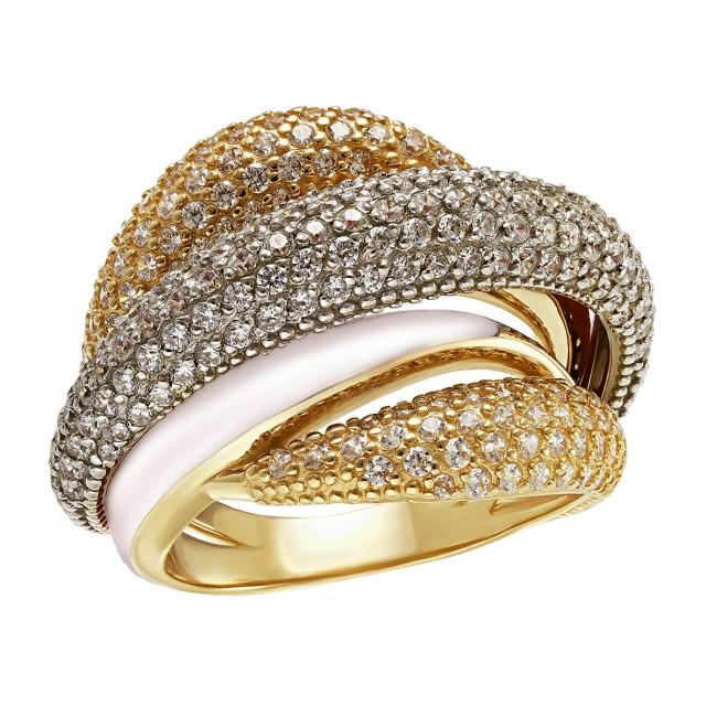Золотое кольцо женское 330141