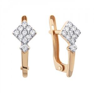 Золотые женские серьги 420308