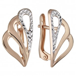 Золотые женские серьги 470397