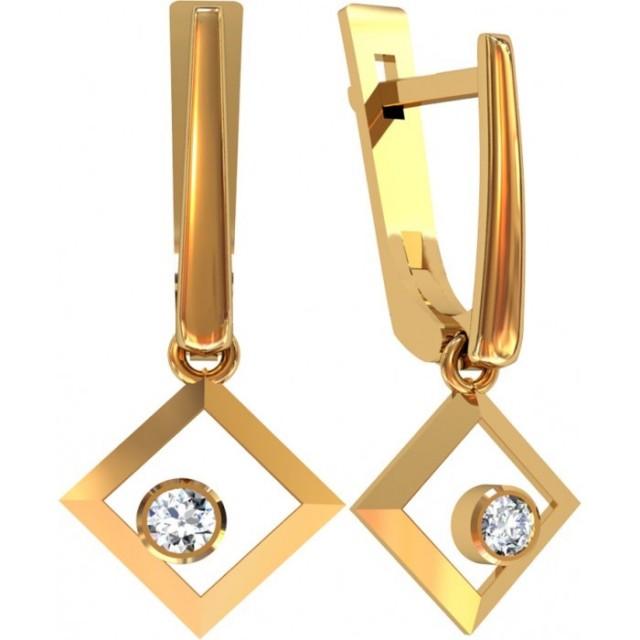 Золотые женские серьги 312290