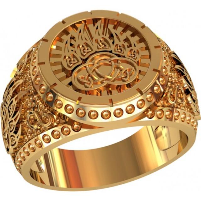Золотая печатка мужская 701200