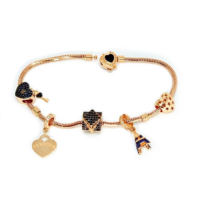 Золотой браслет с шармами 42700320