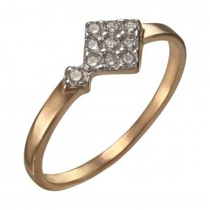 Золотое кольцо женское 380404