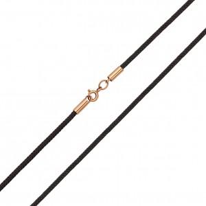 Шёлковый шнурок с золотыми вставками 950087