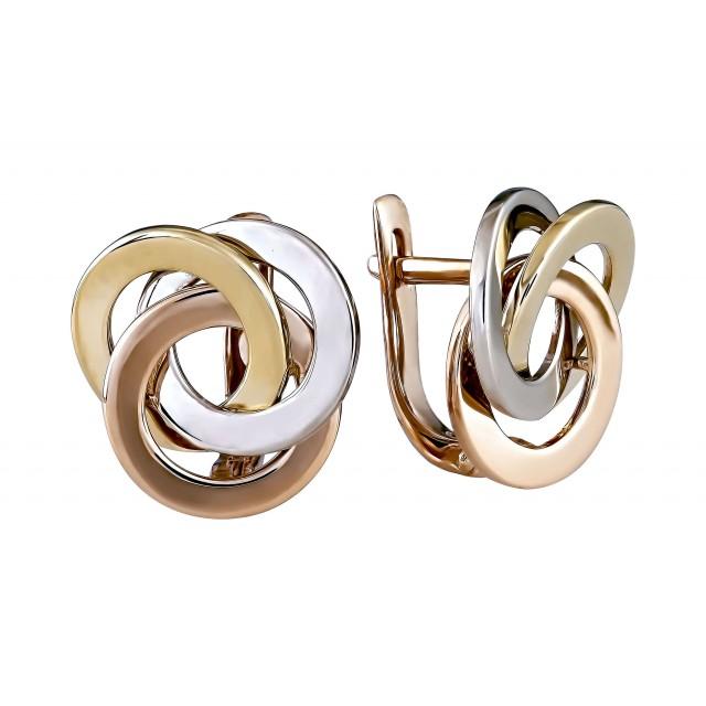 Золотые женские серьги 302