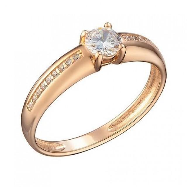 Золотое женское кольцо 1105245101 фото