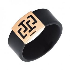 Золотое кольцо с каучуком 900626
