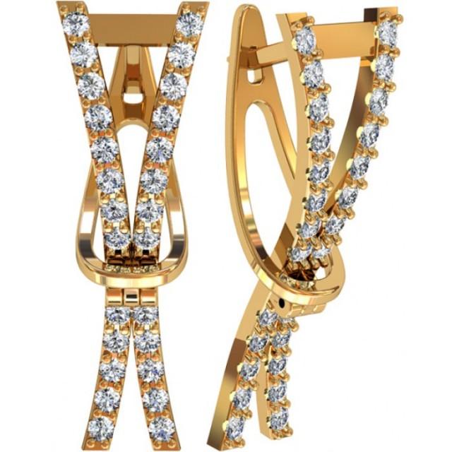 Золотые женские серьги 312520