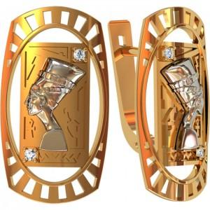 Золотые женские серьги 312570