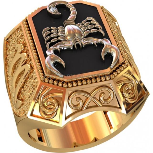 Золотая мужская печатка 701180