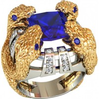 Золотая мужская печатка 700340