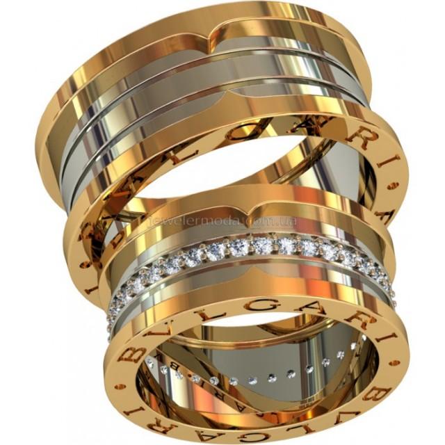 Золотое обручальное кольцо 801560