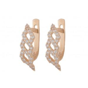 Золотые женские серьги 41037
