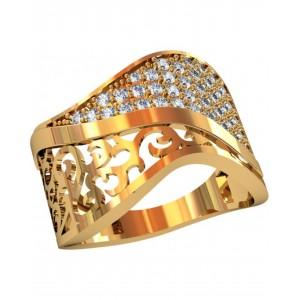Золотое женское кольцо 112630 фото