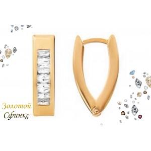 Золотые женские серьги 470326