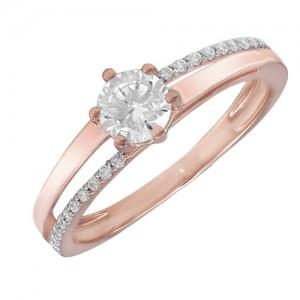 Золотое кольцо женское 1101504101