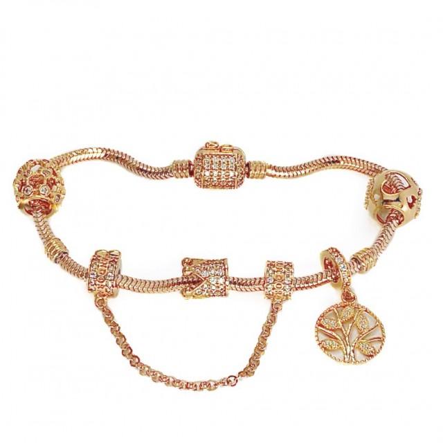 Золотой браслет с шармами 42700321