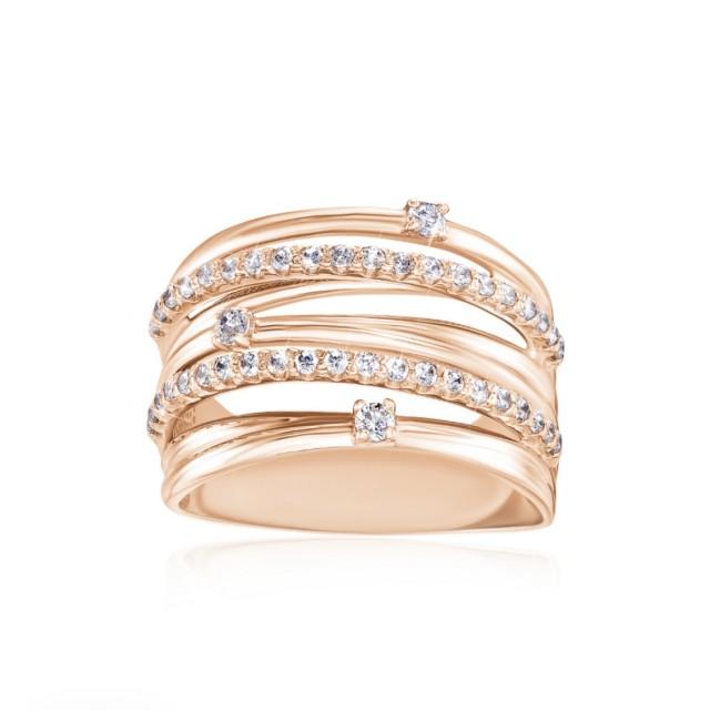 Золотое женское кольцо 12922