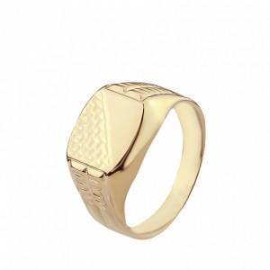 Золотая мужская печатка 391083