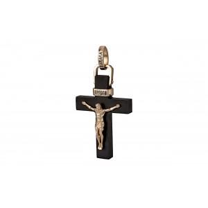 Крест из эбенового дерева и золота 224