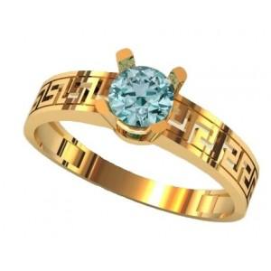 Золотое кольцо для помолвки 1416 фото