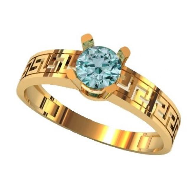 Золотое кольцо для помолвки 1416