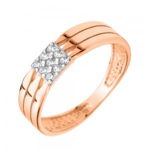 Золотое женское кольцо 380405