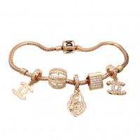 Золотой браслет с шармами 42700322
