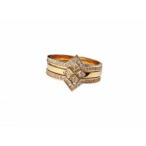 Золотое женское кольцо 402153 фото