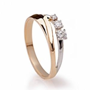 Золотое кольцо с бриллиантами 46121200