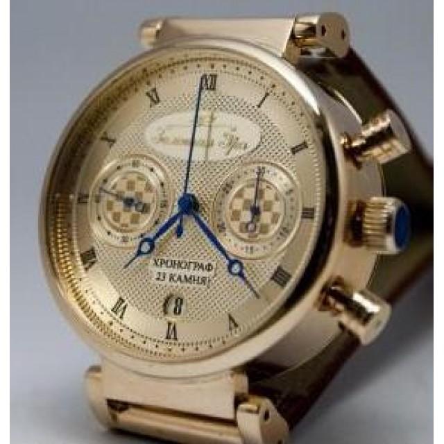 Золотые часы мужские Полет 3133/7GR3