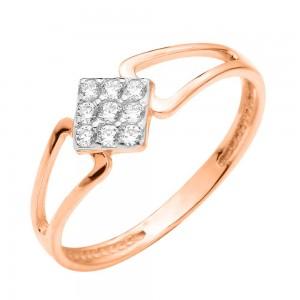 Золотое женское кольцо 380398