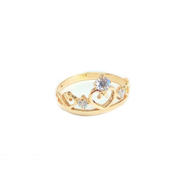 Золотое женское кольцо 1-1031