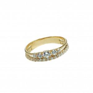 Золотое женское кольцо 21116